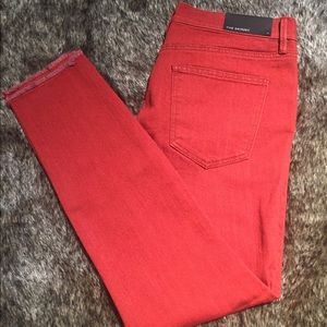 NWT Ann Taylor Skinny red jeans